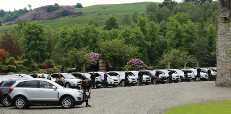 SUVs at Duntreath
